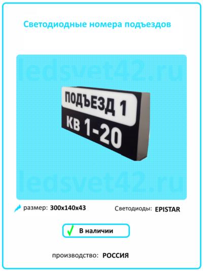 светодиодные номера подъездов домов