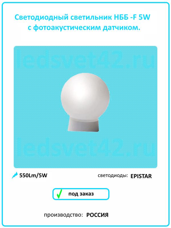 Светодиодный светильник НББ с датчиком