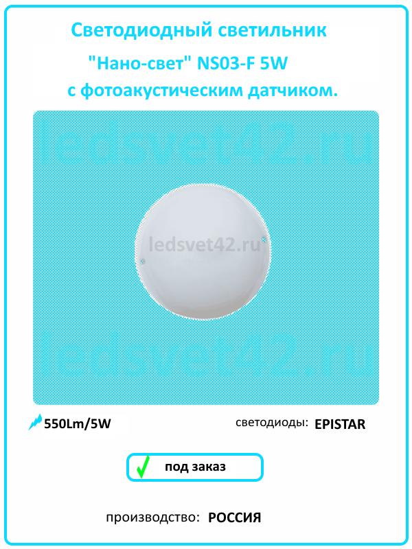 Светодиодный светильник NS03 F